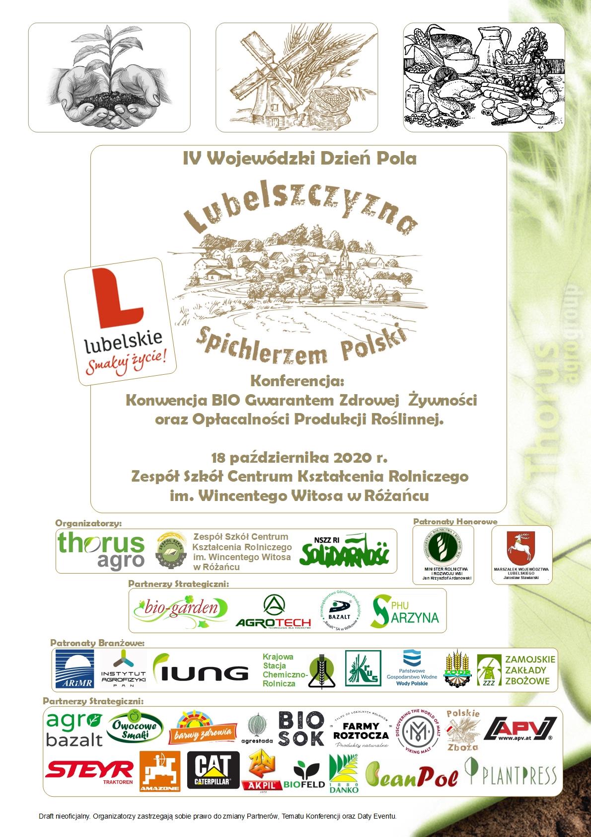 """1 IV Wojewódzki Dzień Pola """"Lubelszczyzna Spichlerzem Polski"""" [PROGRAM]"""