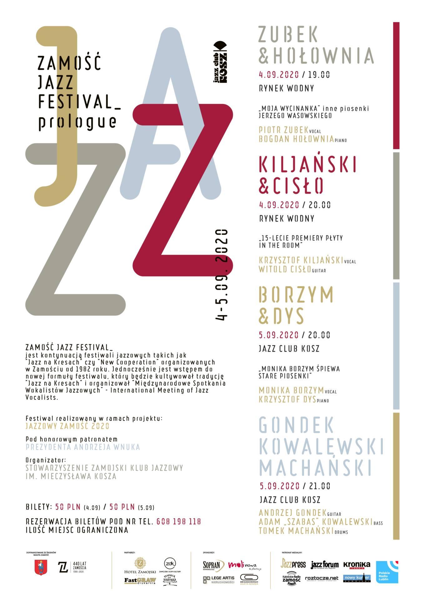 10840 afisz zamosc jazz festival Weekendowy plan wydarzeń