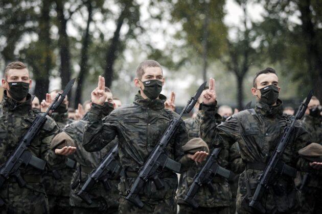2 lbot przysiega lublin 27 09 2020 3 87 nowych ochotników zasiliło szeregi lubelskich Terytorialsów [ZDJĘCIA]