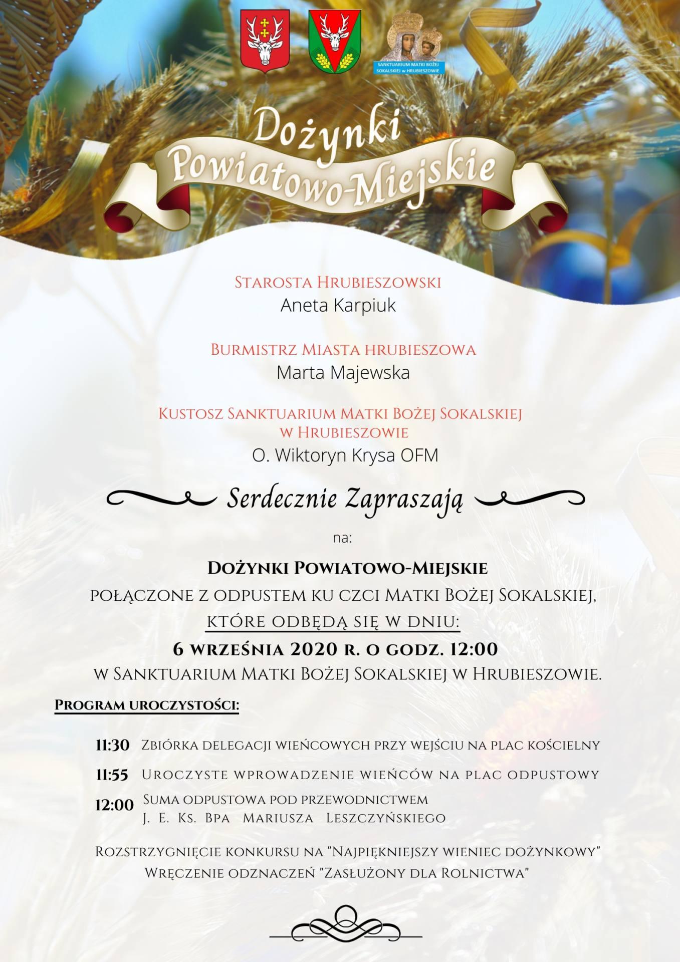 25719 d Zbliżają się Dożynki Powiatowo- Miejskie w Hrubieszowie.