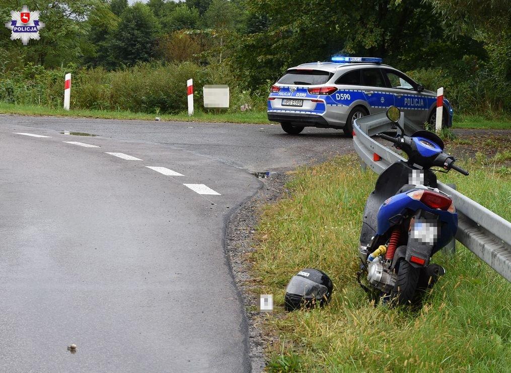 68 174219 Wypadek na skuterze. 28 - latek ranny