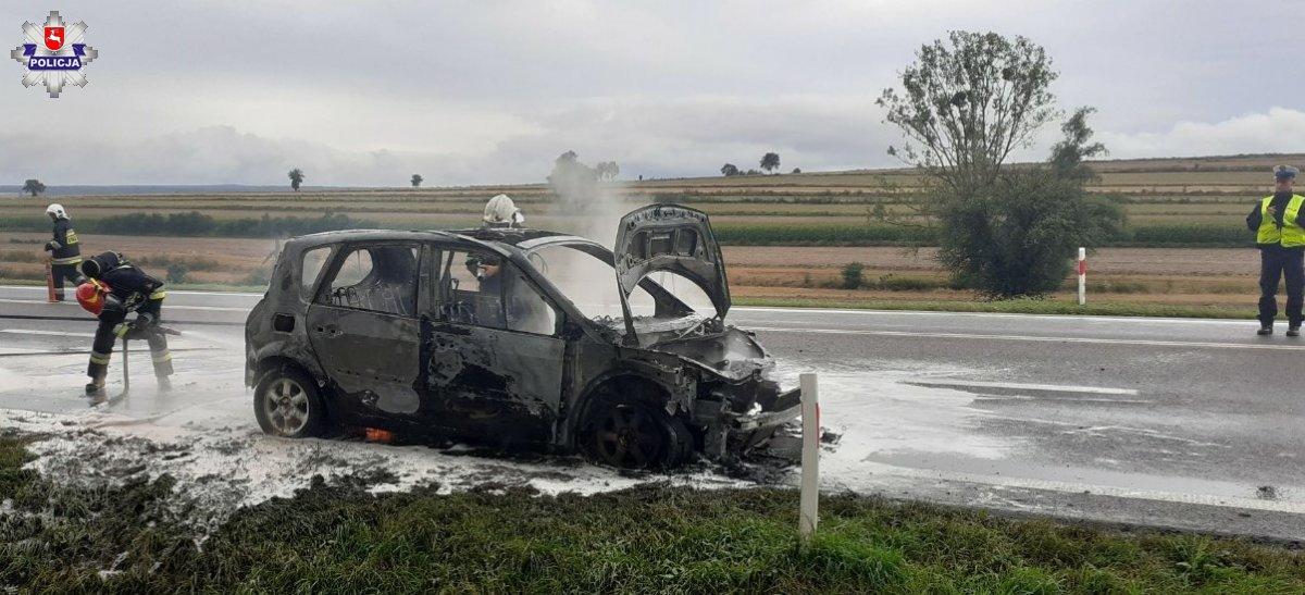 68 174244 Renault stanęło w płomieniach podczas jazdy (zdjęcia)