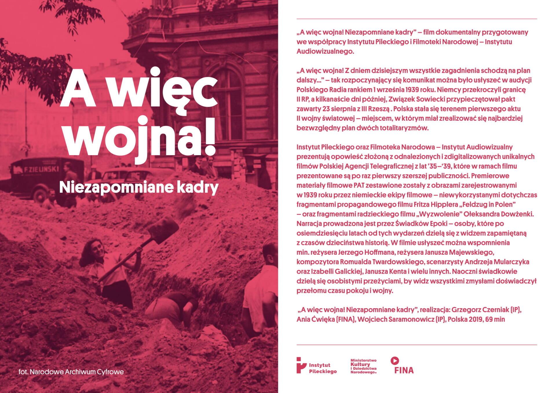 """a wiec wojna prezentacja 2020 pl 1 Bezpłatny seans filmu """"Awięc wojna! Niezapomniane kadry"""""""