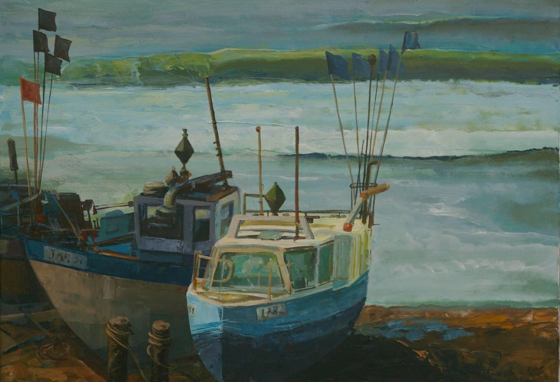 dariusz piekut nad morzem 2020 r akryl plotno 70x100 cm Obrazy Dariusza Piekuta będą prezentowane na Biennale Malarstwa w Gdyni.