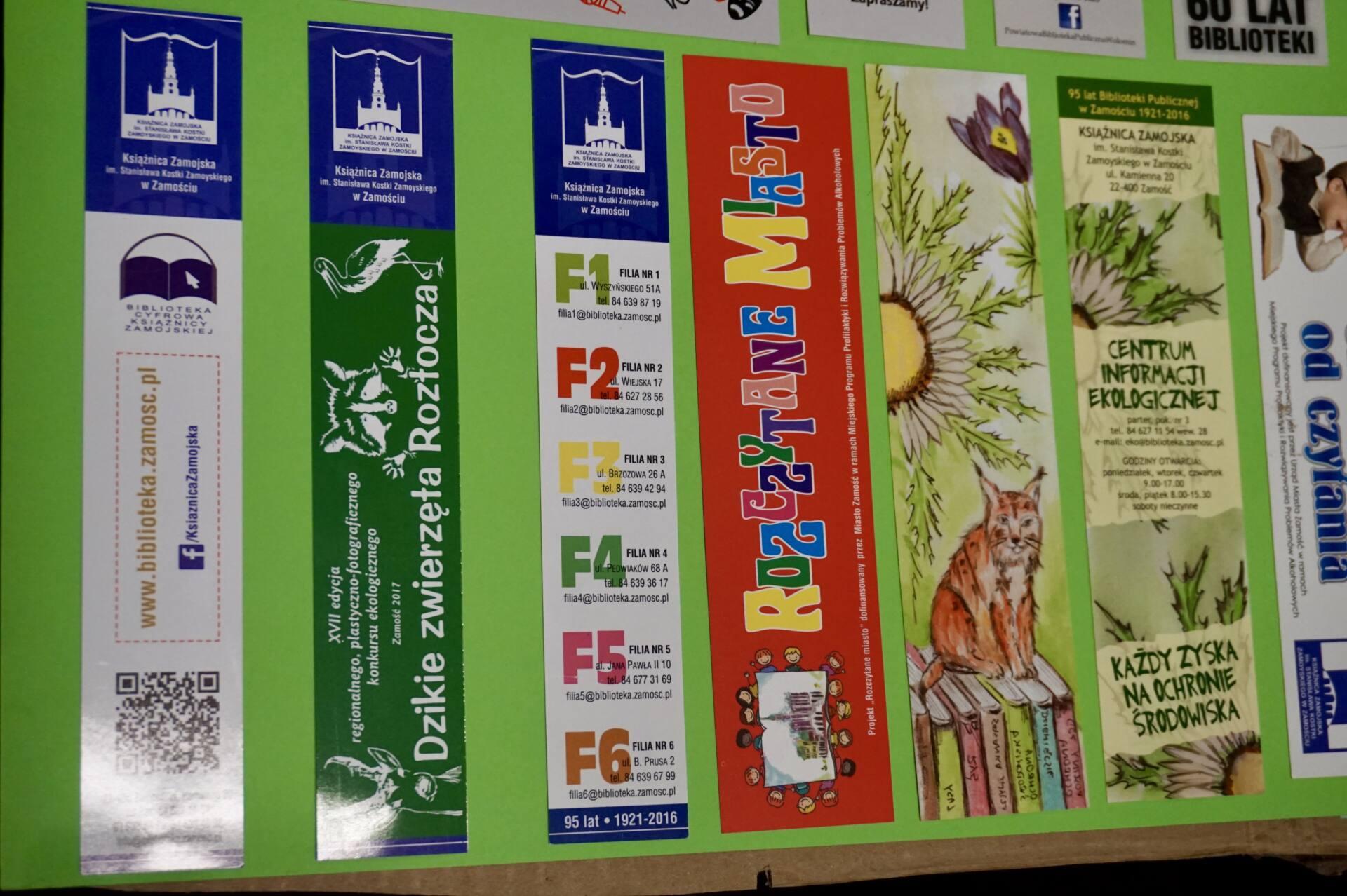 dsc01263 Imponująca kolekcja zakładek książkowych w Książnicy Zamojskiej