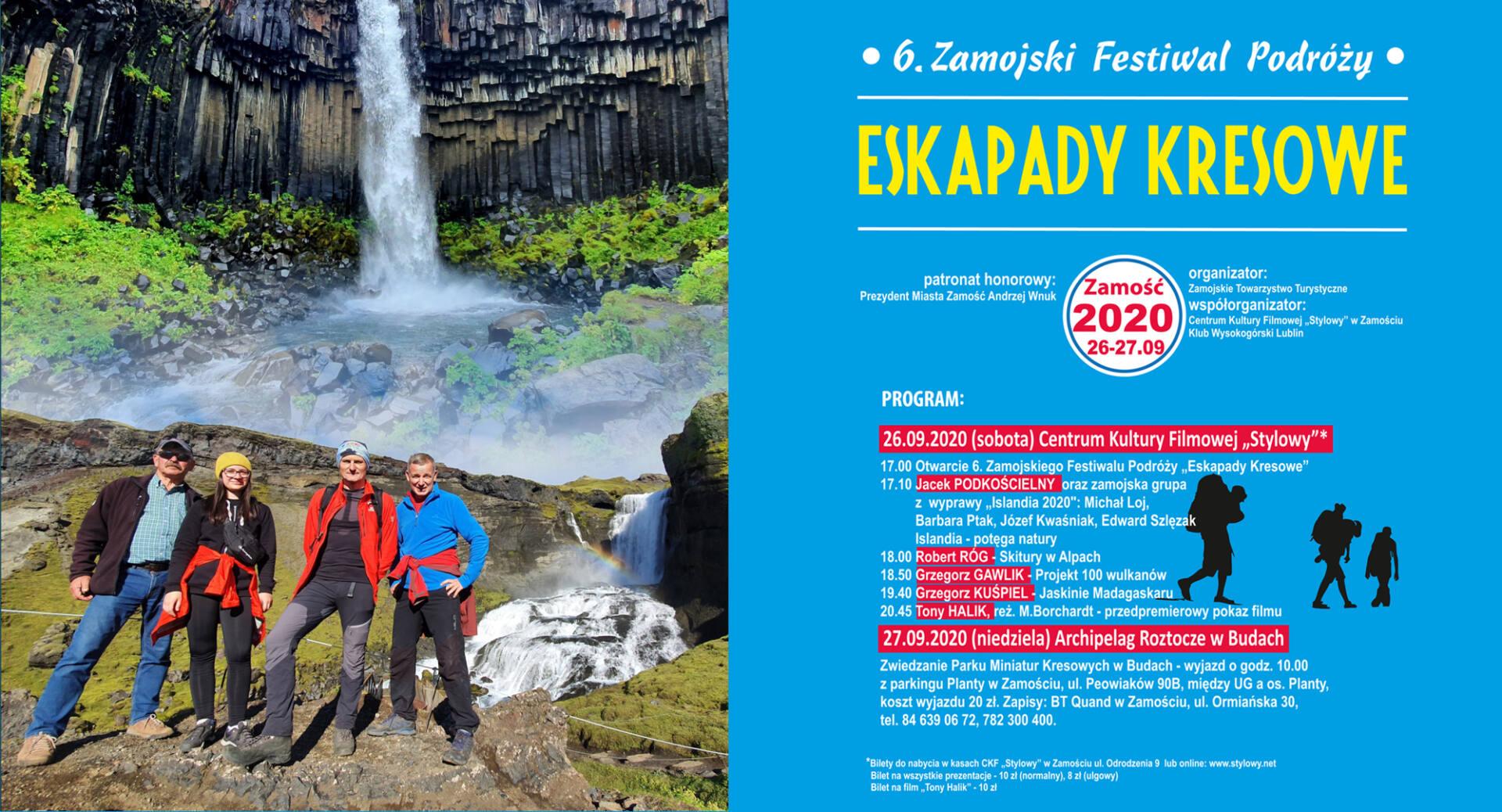 """eskapady 2020 Zbliża się 6. Zamojski Festiwal Podróży """"Eskapady Kresowe"""" [PROGRAM]"""