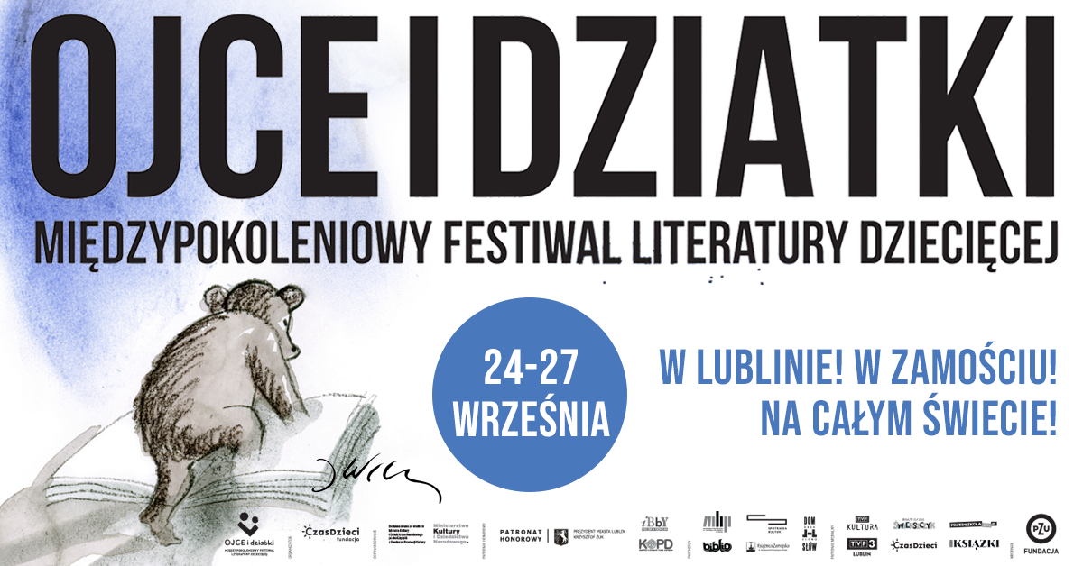 fb lublin zlogotypami Międzypokoleniowy Festiwal Literatury Dziecięcej  Ojce i dziatki w Zamościu