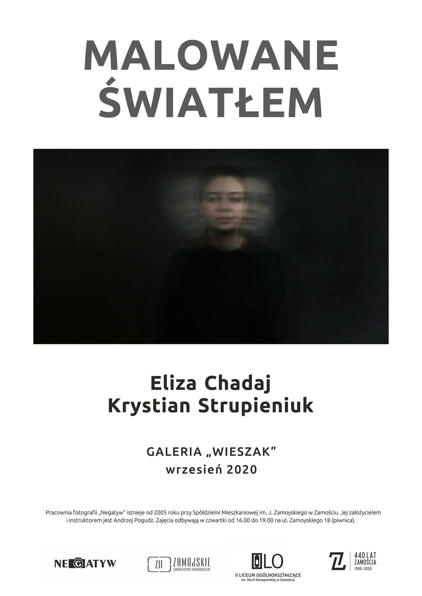 negatyw 2020 malowane swiatlem plakat Malowane światłem w Galerii Wieszak