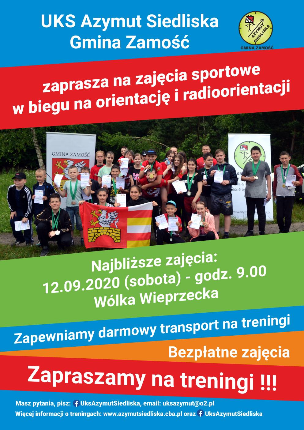 plakat 1 Zajęcia sportowe w biegu na orientację i radioorientację