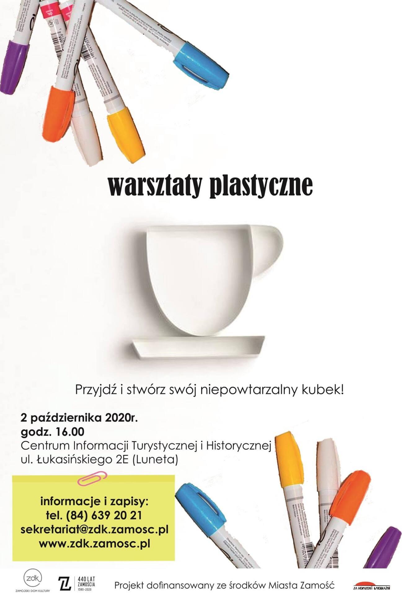 plakat 12 Warsztaty plastyczne malowania kubków ceramicznych