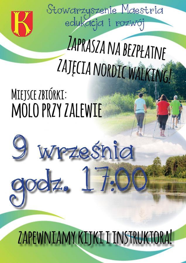 plakat 3 Już jutro zajęcia nordic walking