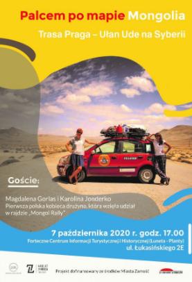 plakat 3 Spotkanie podróżnicze ,,Palcem po mapie''-Mongolia