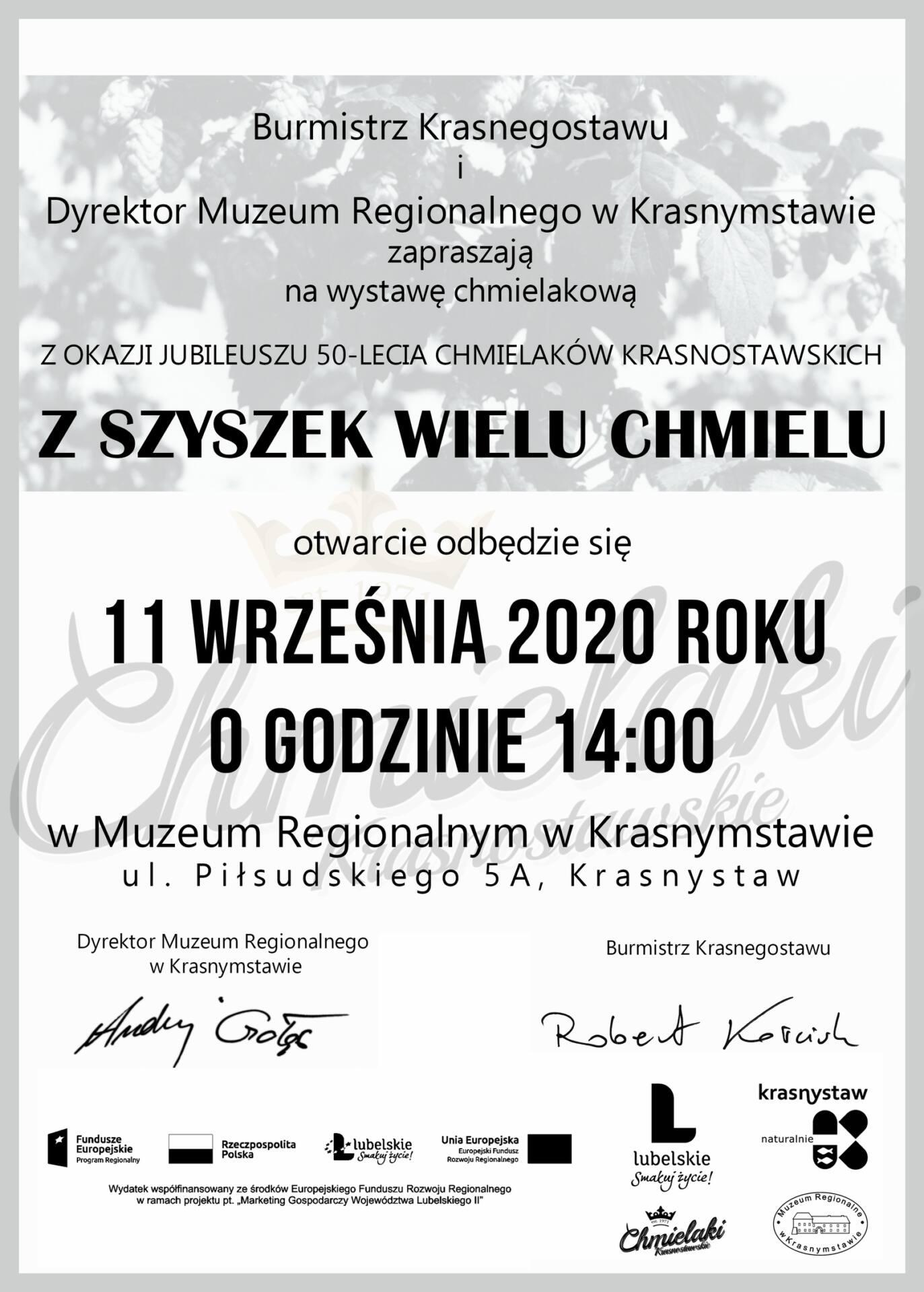 plakat 4 Wystawa Chmielakowa z okazji 50-lecia Chmielaków Krasnostawskich