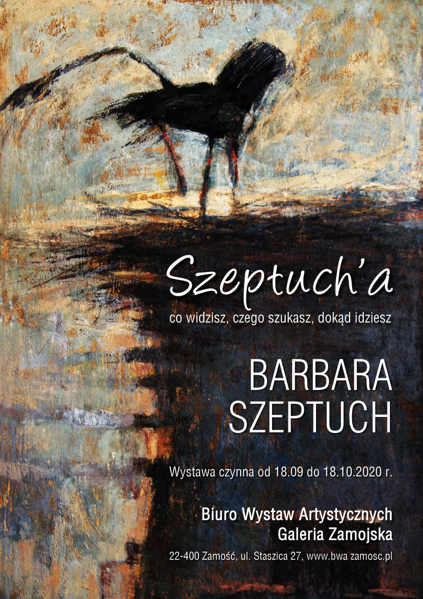 plakat edytowany 2 BWA Galeria Zamojska zaprasza na spotkanie z Barbarą Szeptuch