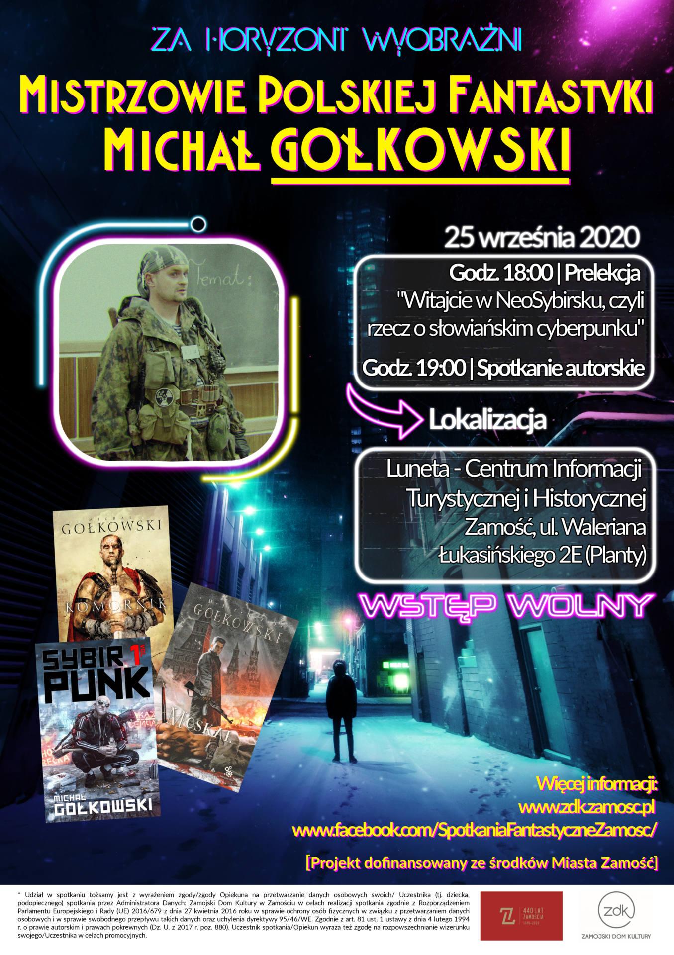 plakat podglac285d poprawiony Zamość: Spotkanie autorskie z Michałem Gołkowskim