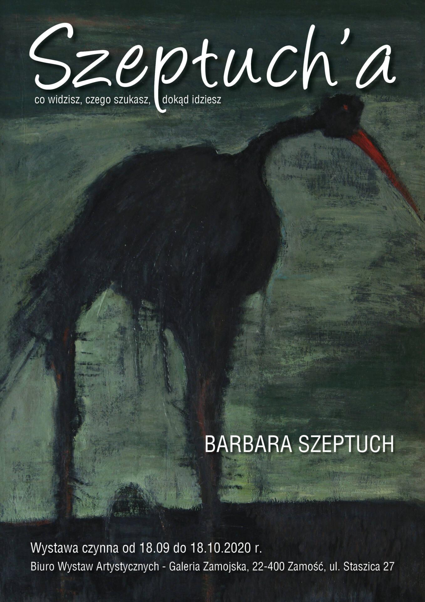 plakaty BWA Galeria Zamojska zaprasza na spotkanie z Barbarą Szeptuch