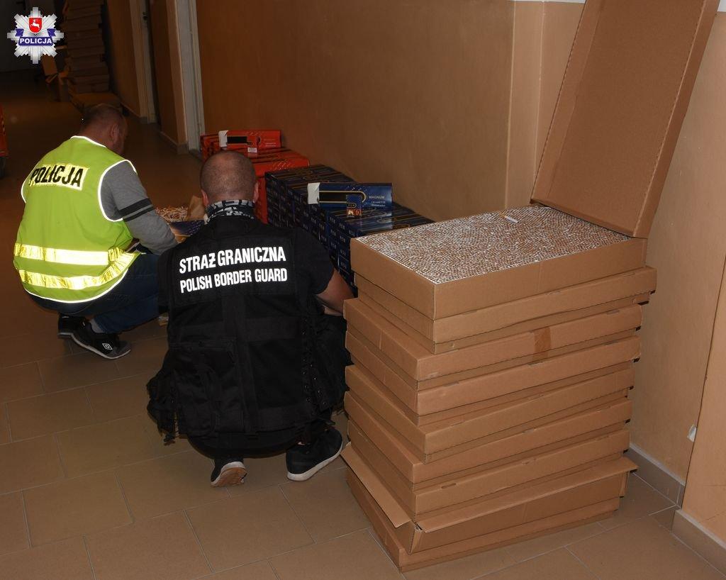 policja 8 Zabezpieczono ponad 93 tysiące sztuk papierosów bez polskich znaków akcyzy