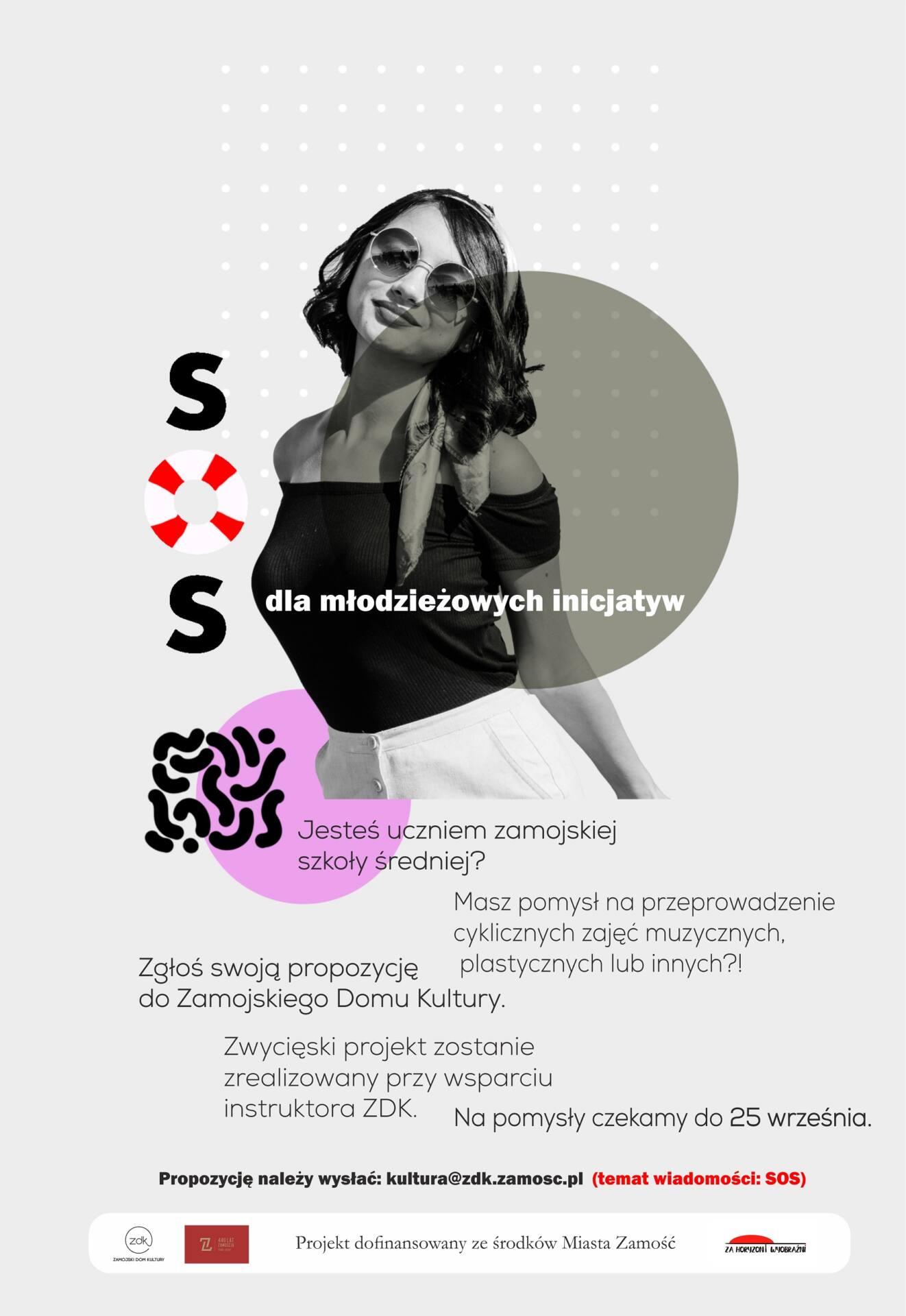 sos plakat SOS dla młodzieżowych inicjatyw