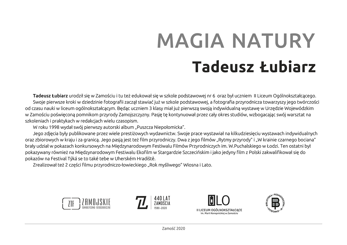 wernisaz kartka Wernisaż wystawy fotograficznej ,,Magia natury