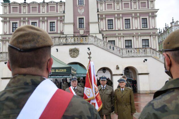 wot 2 Uroczyste obchody święta Wojsk Obrony Terytorialnej wZamościu
