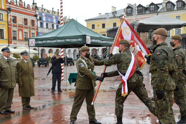 wot 3 Uroczyste obchody święta Wojsk Obrony Terytorialnej wZamościu