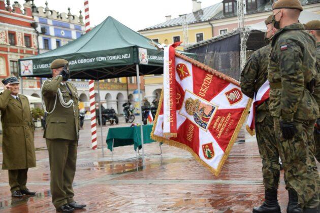 wot 4 Uroczyste obchody święta Wojsk Obrony Terytorialnej wZamościu