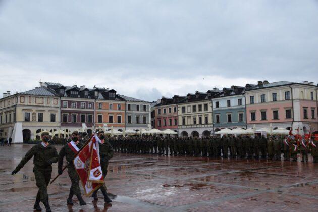 wot 5 Uroczyste obchody święta Wojsk Obrony Terytorialnej wZamościu