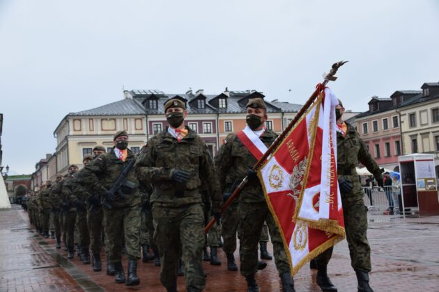 wot 7 Uroczyste obchody święta Wojsk Obrony Terytorialnej wZamościu