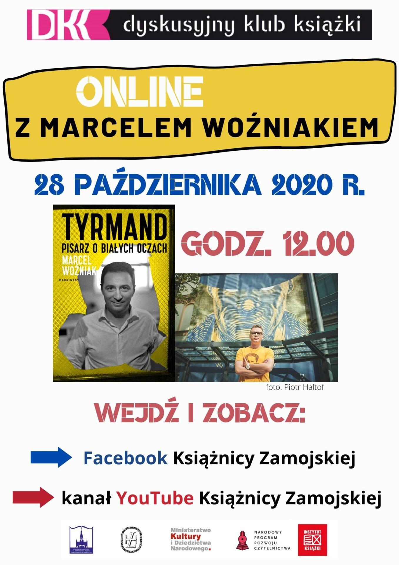 2 wozniak dkk wrzesien2020 Spotkanie online z Marcelem Woźniakiem. Książnica Zamojska zaprasza