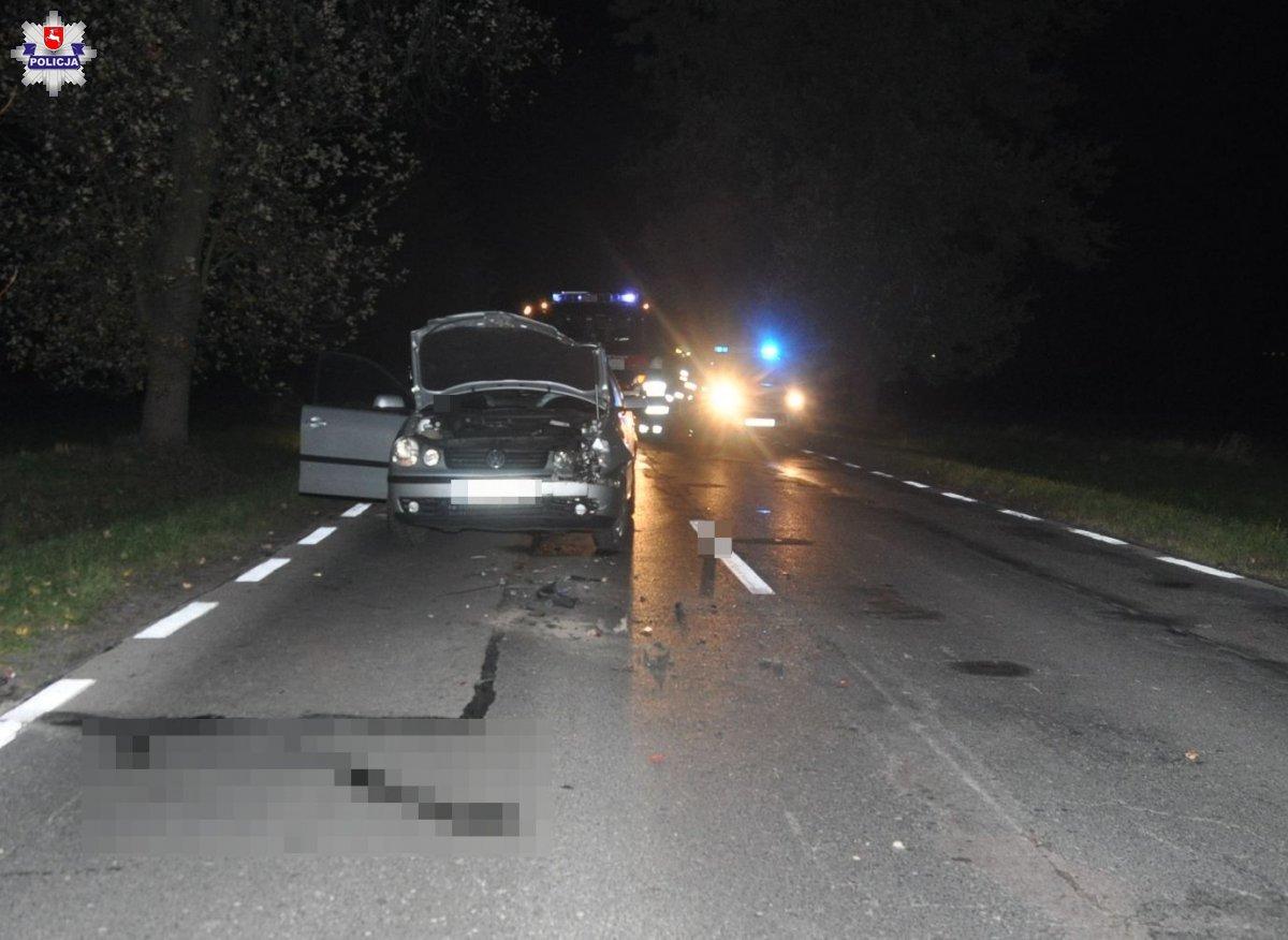 68 176405 Kierowca Renault potrącił pieszych.