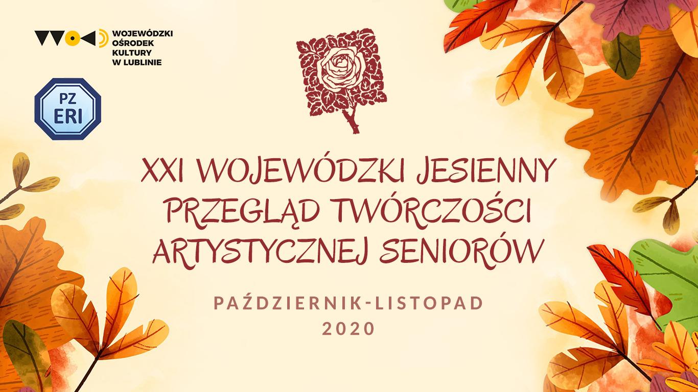 baner jptas 2020 Wojewódzki Jesienny Przegląd Twórczości Artystycznej Seniorów