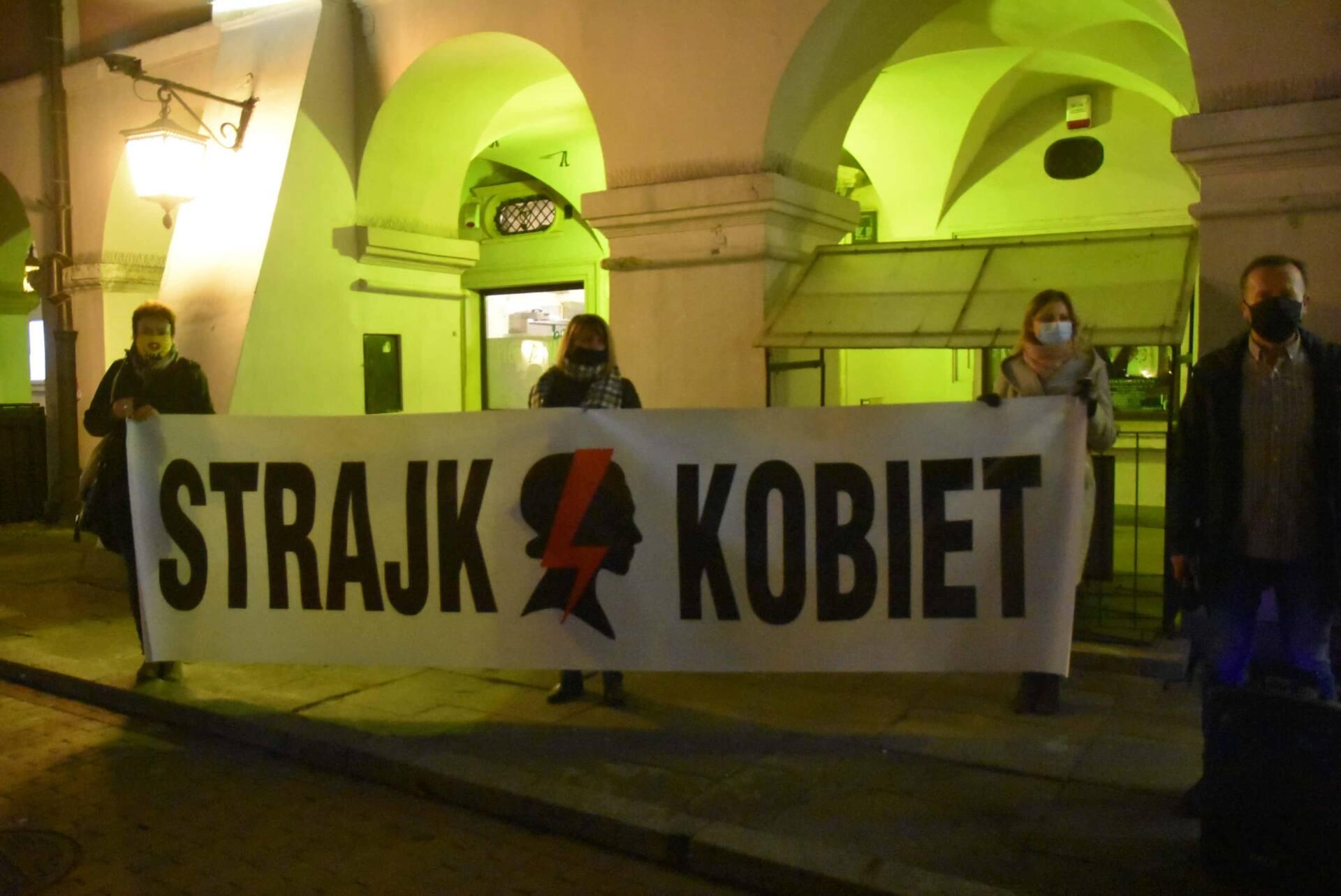 dsc 3087 Strajk Kobiet w Zamościu (zdjęcia)