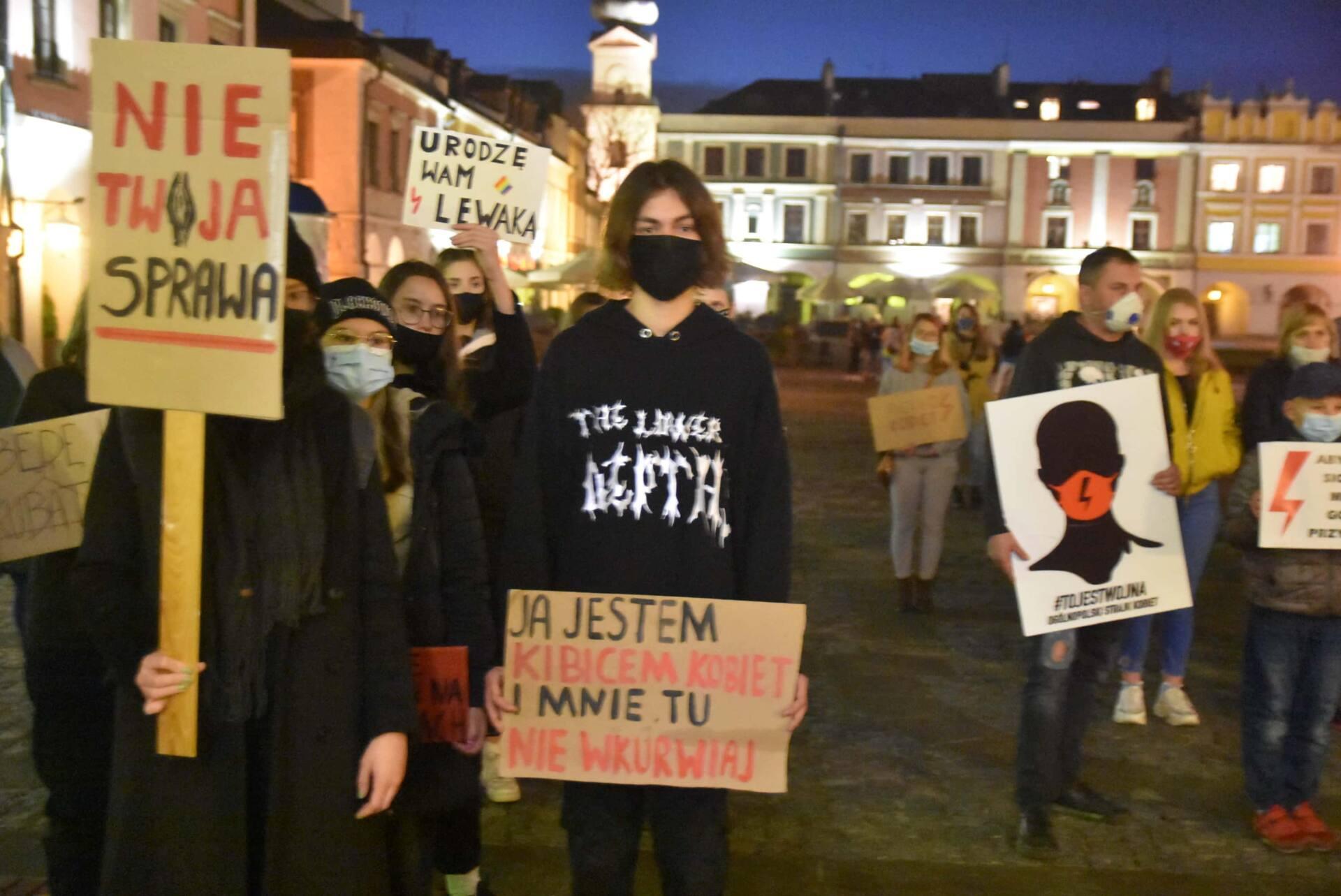 dsc 3092 Strajk Kobiet w Zamościu (zdjęcia)
