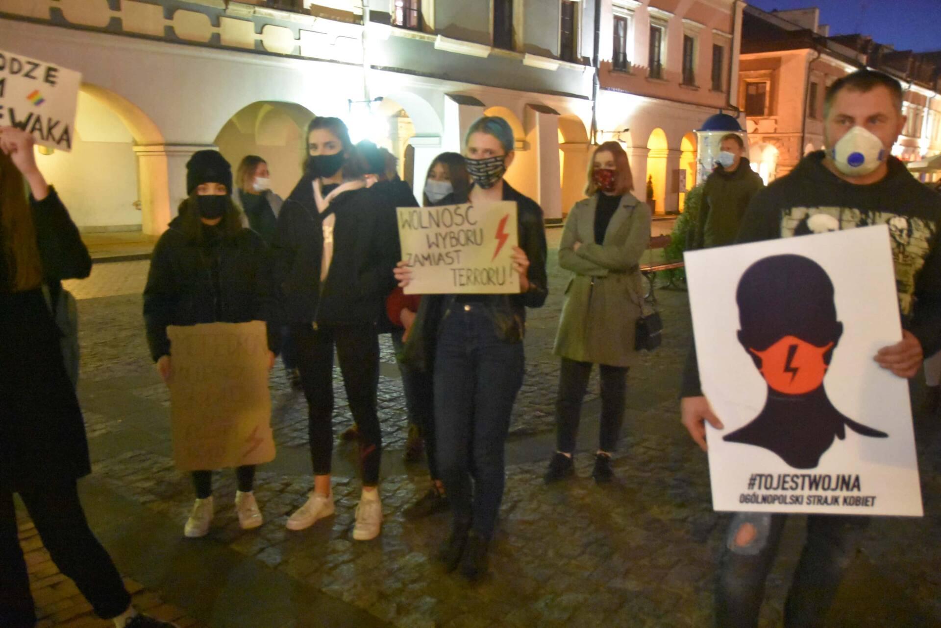 dsc 3097 Strajk Kobiet w Zamościu (zdjęcia)