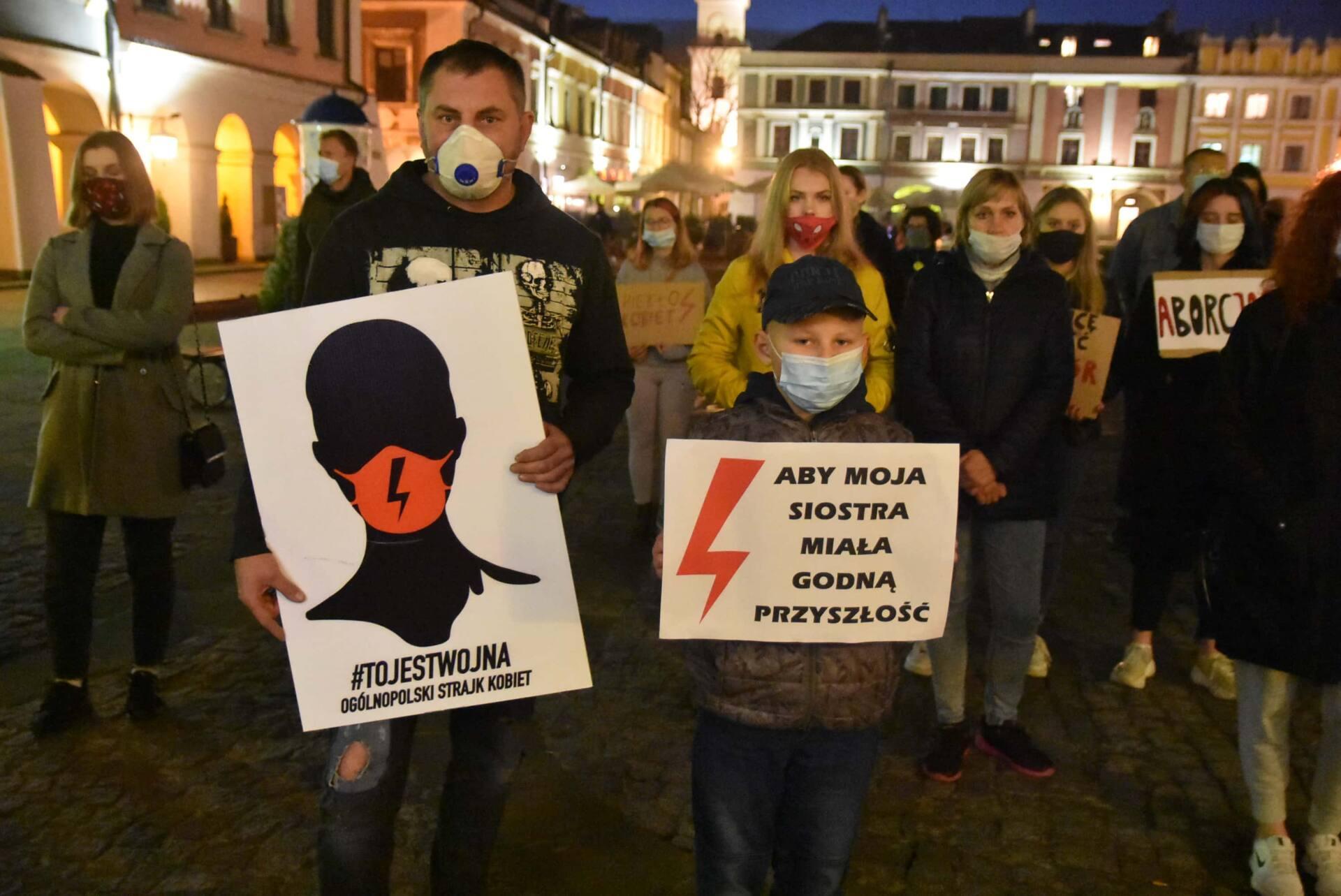 dsc 3100 Strajk Kobiet w Zamościu (zdjęcia)