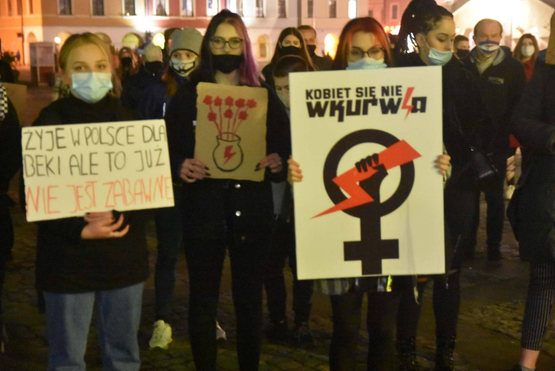 dsc 3102 Strajk Kobiet w Zamościu (zdjęcia)