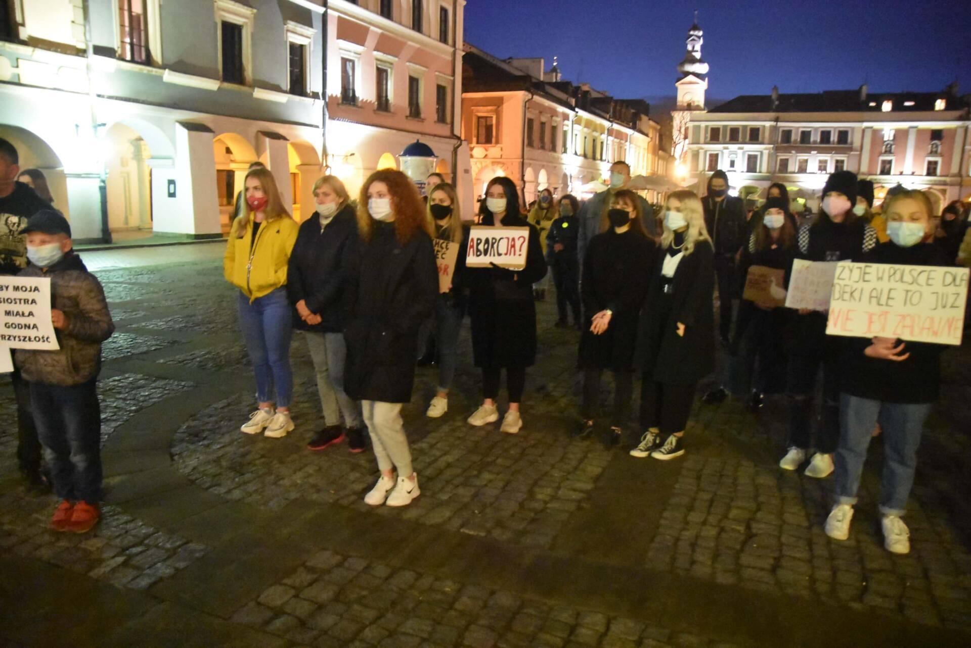 dsc 3103 Strajk Kobiet w Zamościu (zdjęcia)