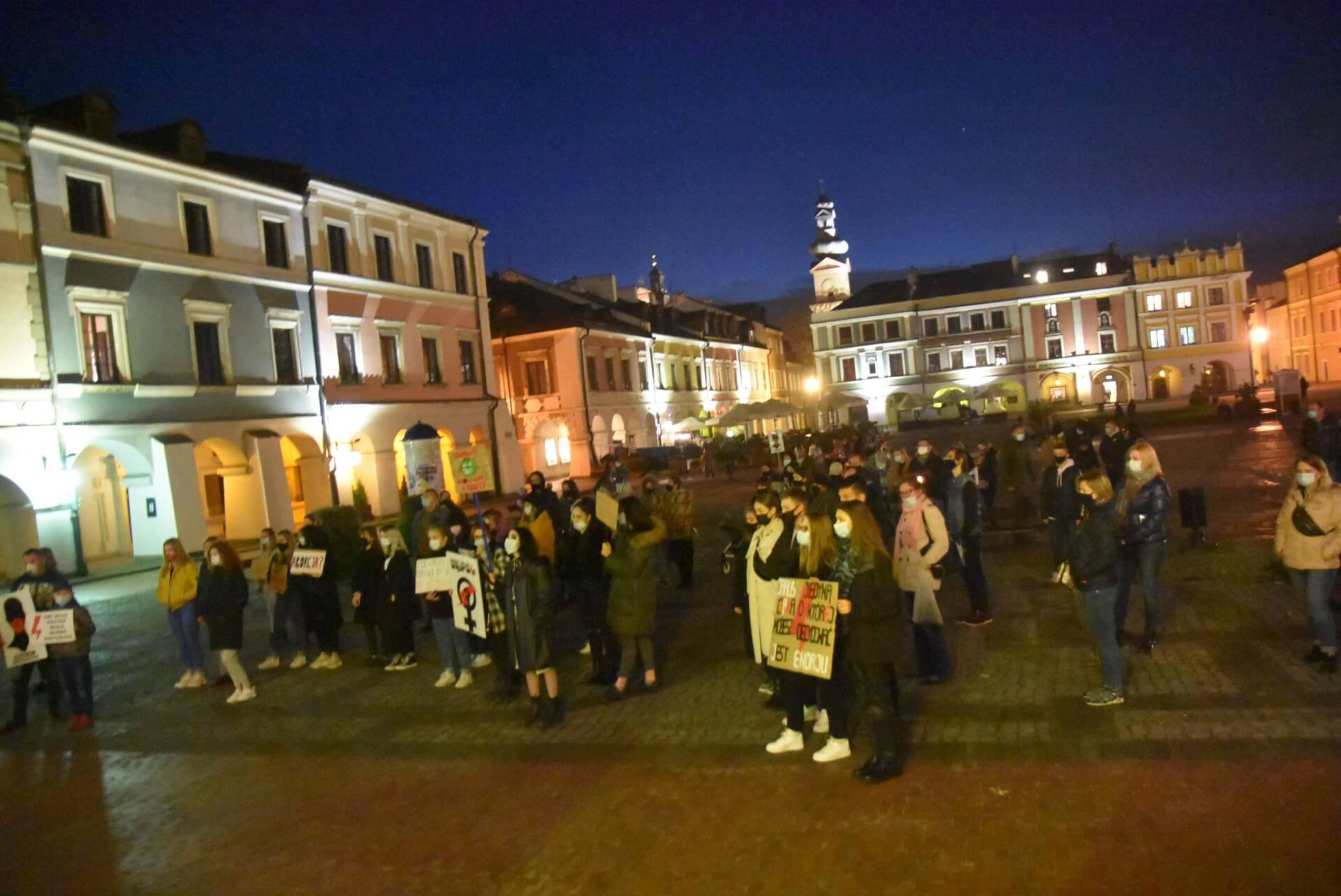dsc 3109 Strajk Kobiet w Zamościu (zdjęcia)