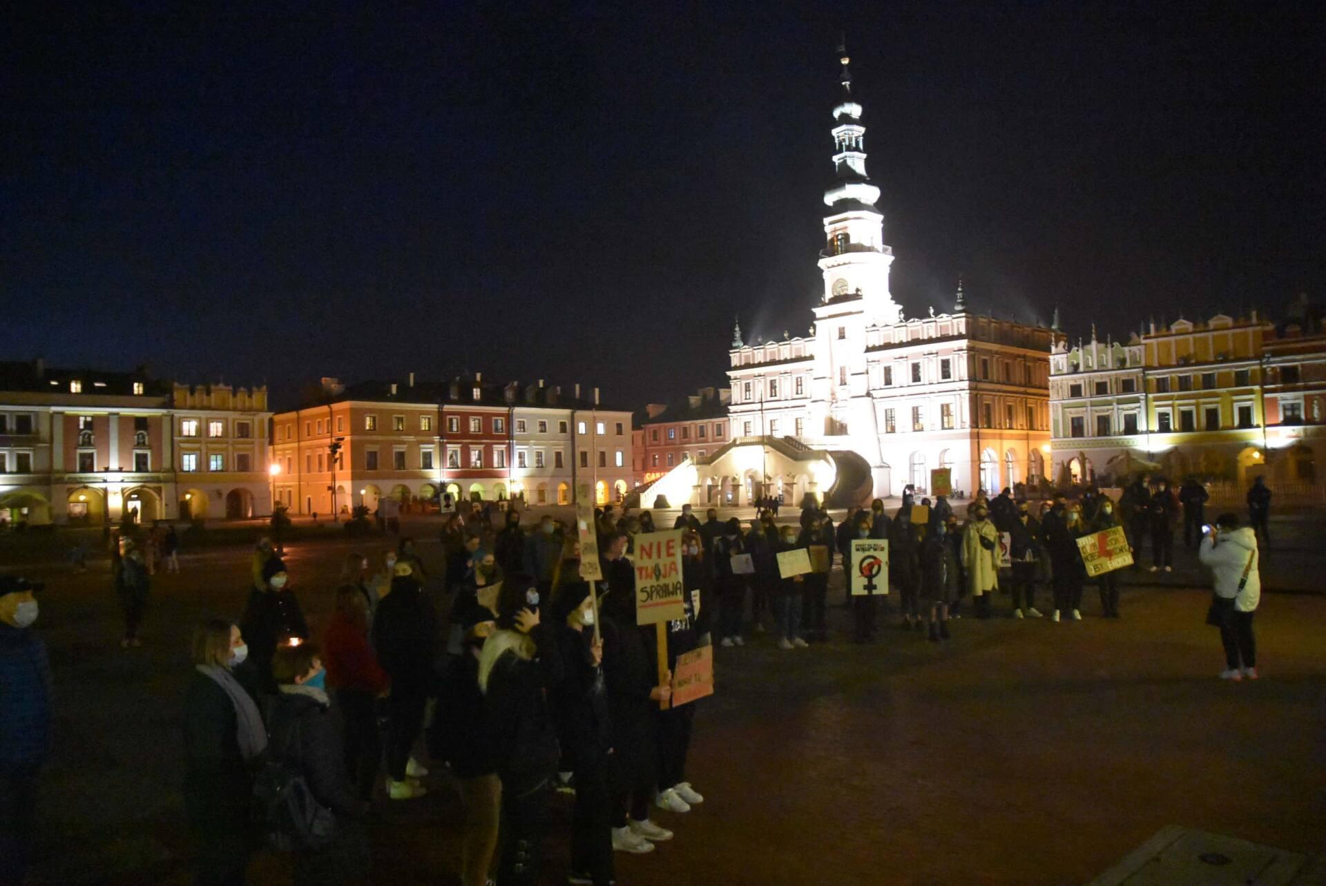 dsc 3113 Strajk Kobiet w Zamościu (zdjęcia)