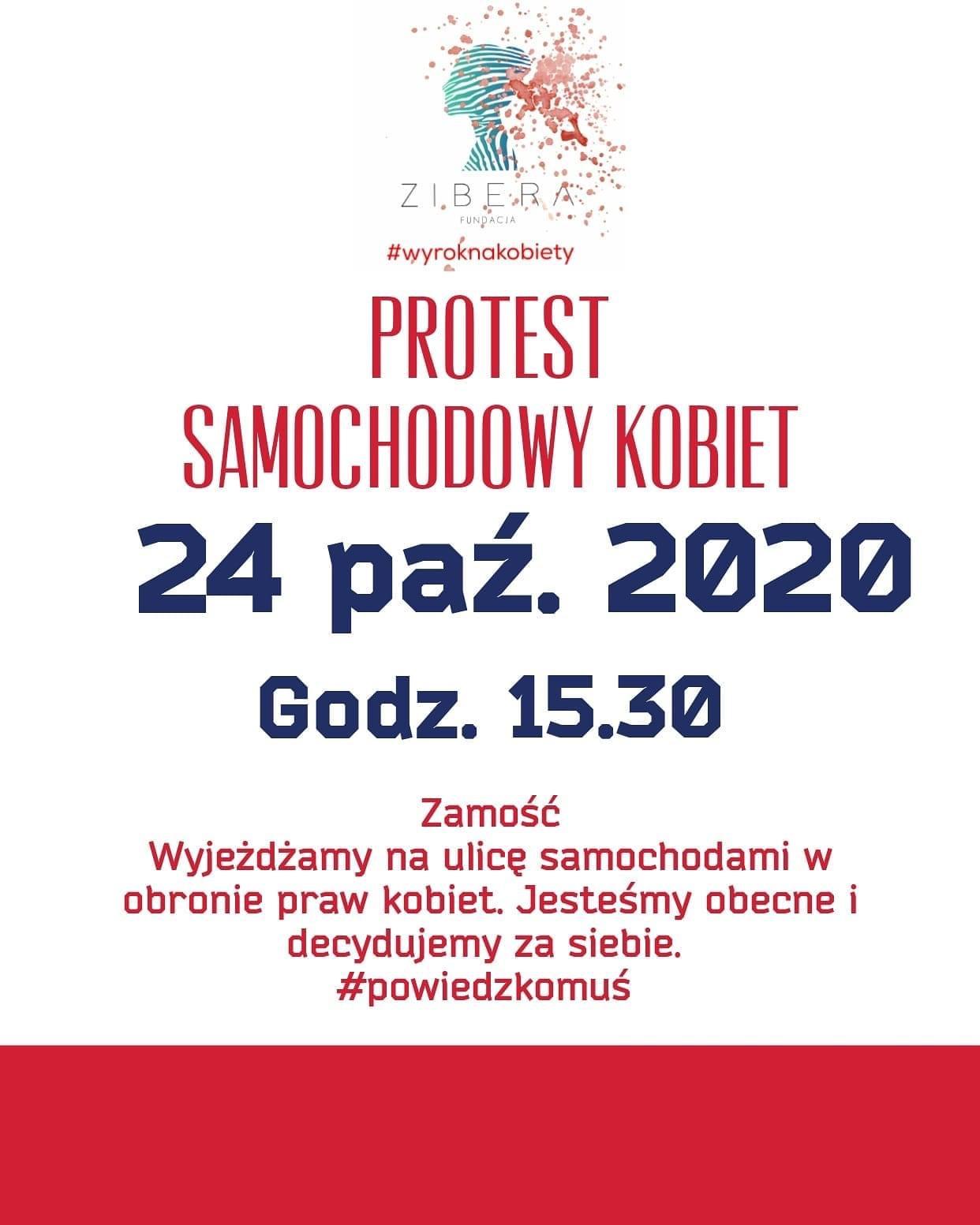 img 3164 Protest samochodowy kobiet w Zamościu!