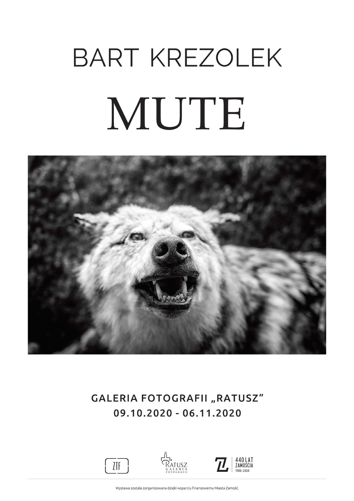 krezolek plakat Zamość: Otwarcie wystawy fotografii Bartka Krężołka pt. MUTE.
