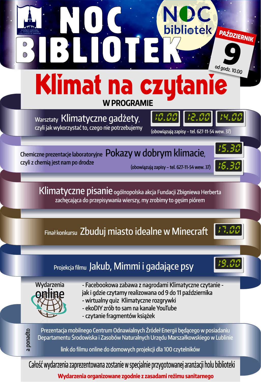 plakat 06 Noc Bibliotek w Książnicy Zamojskiej [PROGRAM]