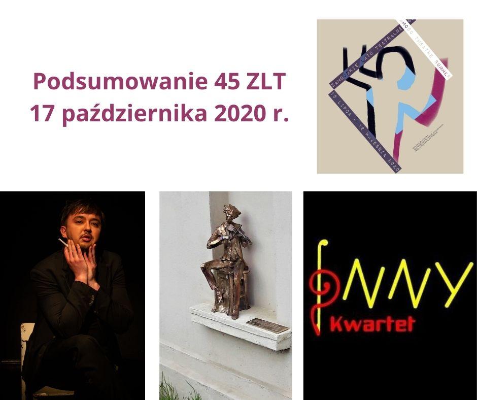 podsumowanie 45 zlt Odsłonięcie rzeźby, monodram, koncert. ZDK zaprasza na podsumowanie Lata Teatralnego.