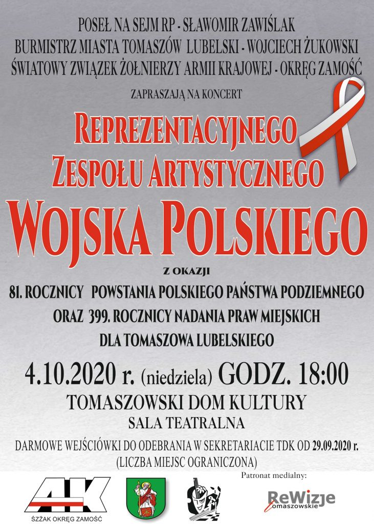 rzawp tomaszow 4 10 731x1024 1 Zaproszenie na koncert Reprezentacyjnego Zespołu Artystycznego Wojska Polskiego