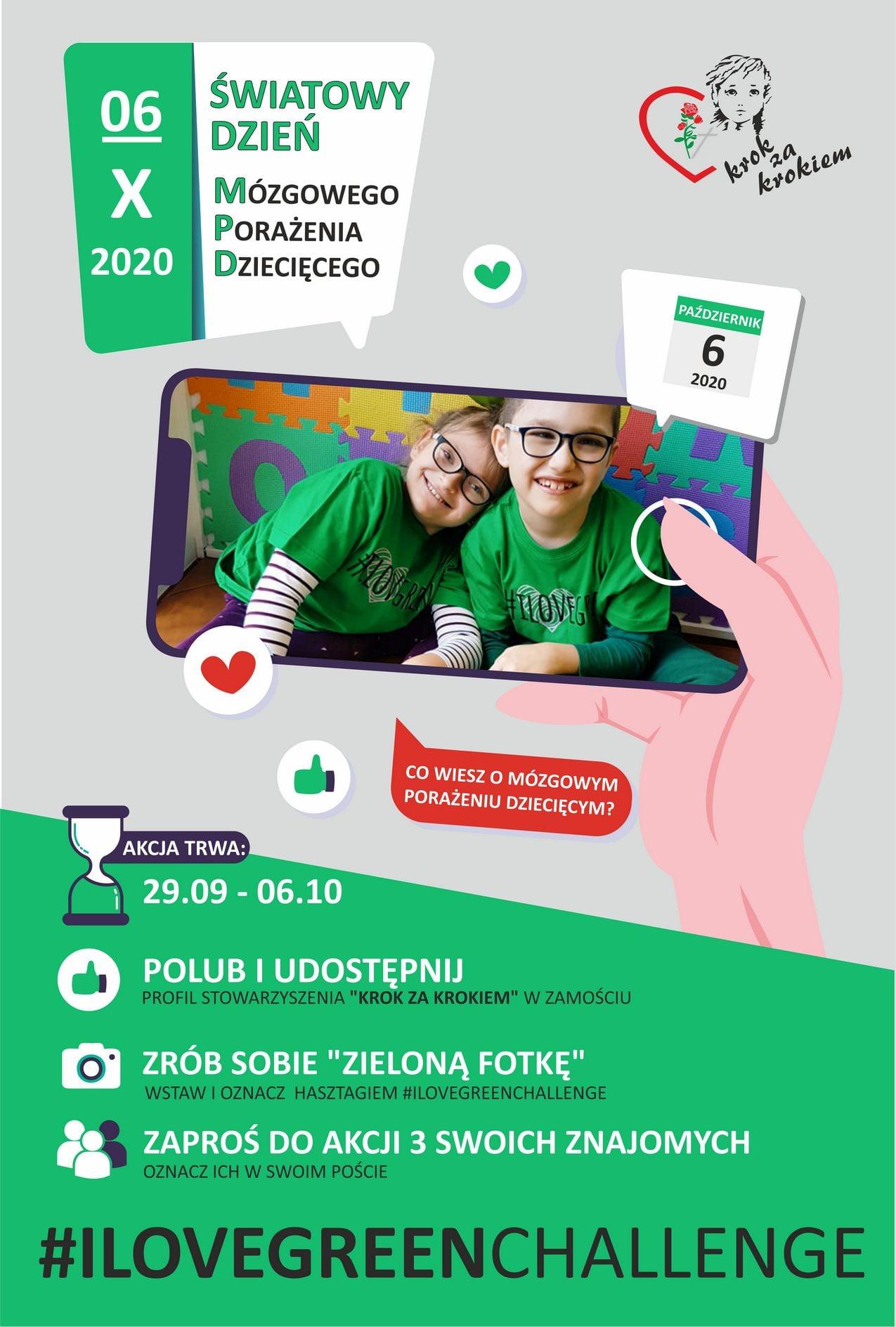 swiatowy dzien mpd ZAMOŚĆ: Rusza akcja #ILOVEGREENCHALLENGE. Przyłącz się i TY!