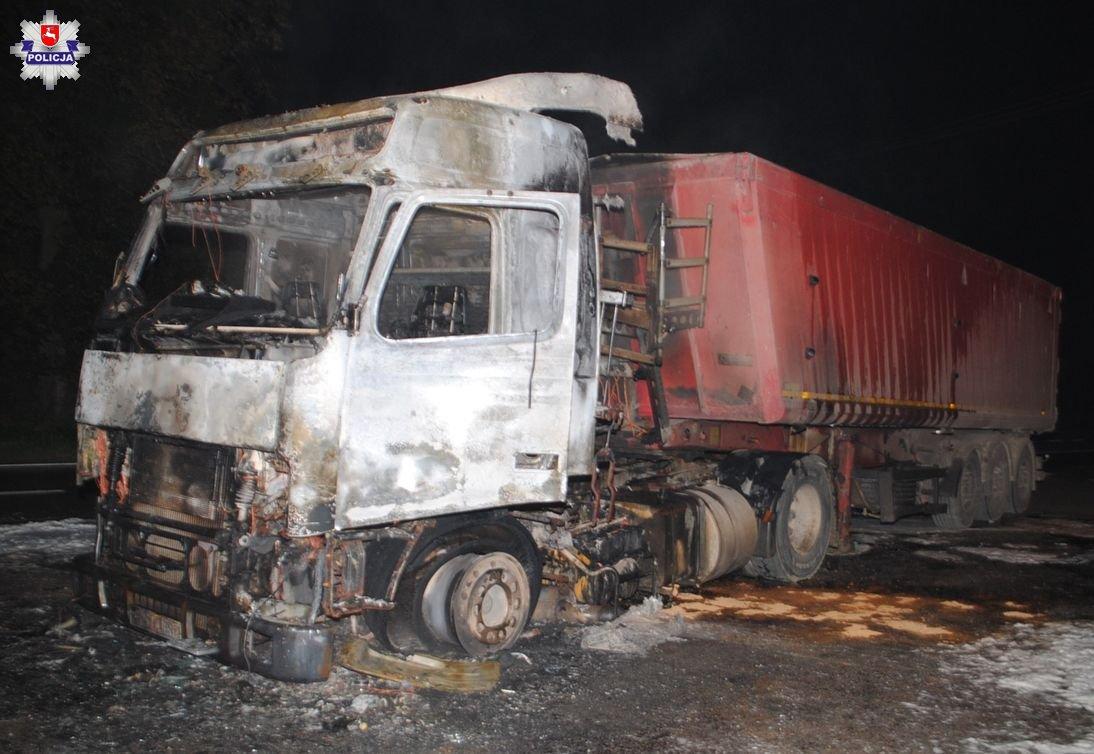 68 176858 Pożar ciężarówki