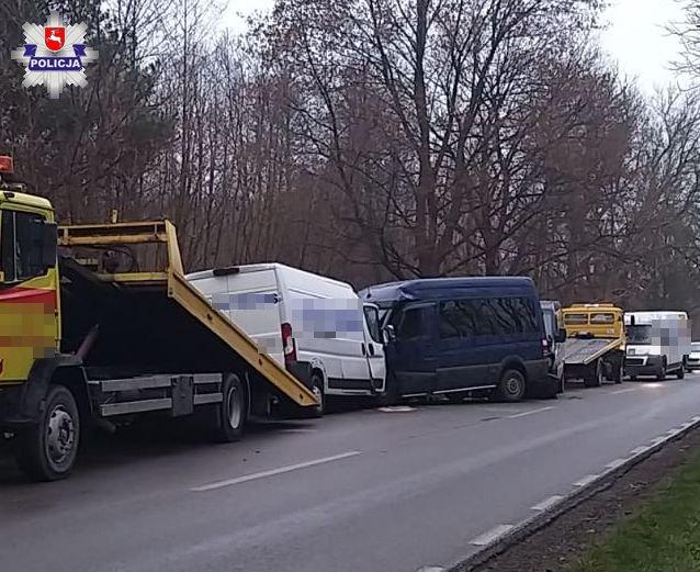 68 177788 Śmiertelny wypadek z udziałem 3 busów