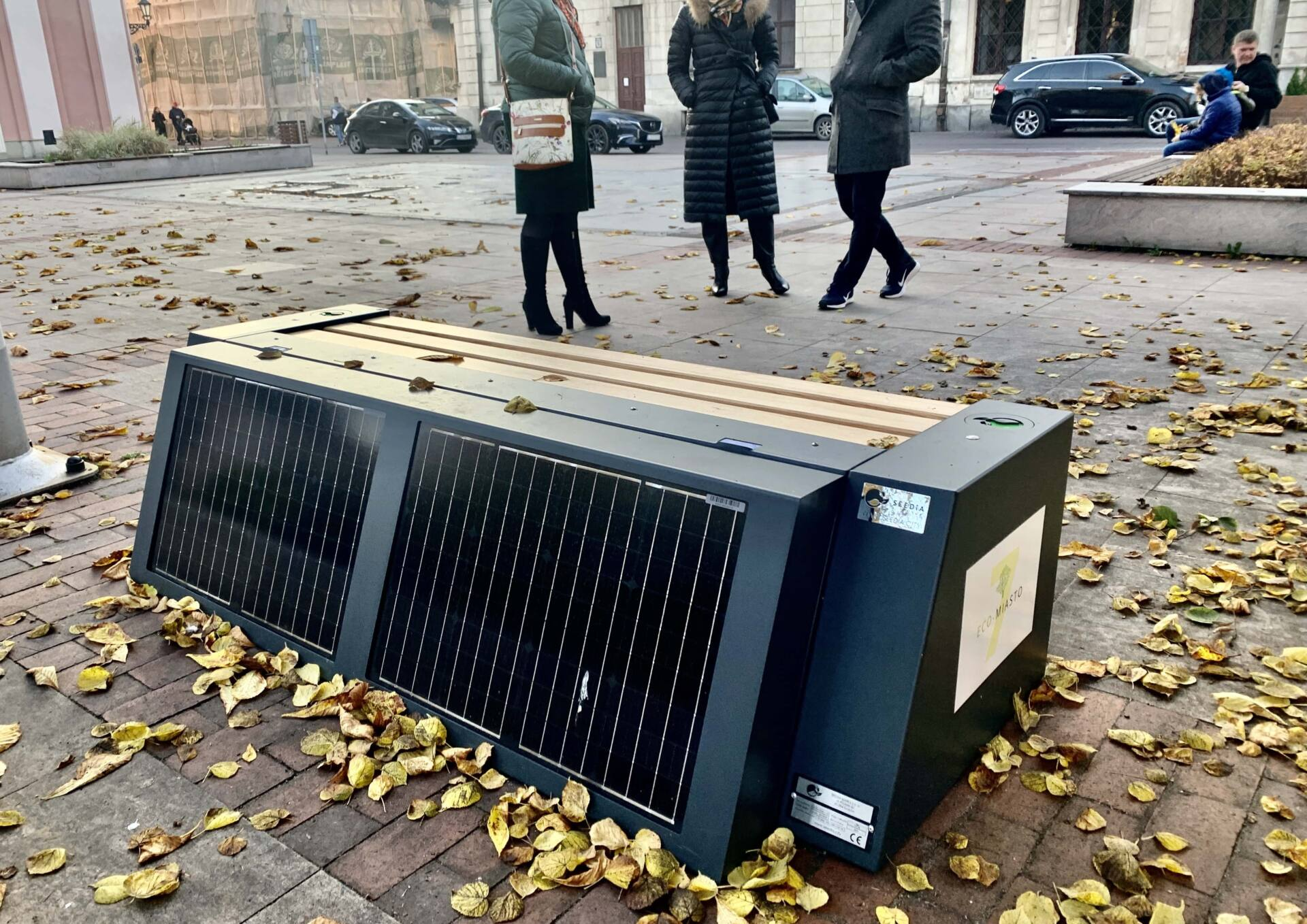 img 3604 Ławeczka solarna w Zamościu (zdjęcia)
