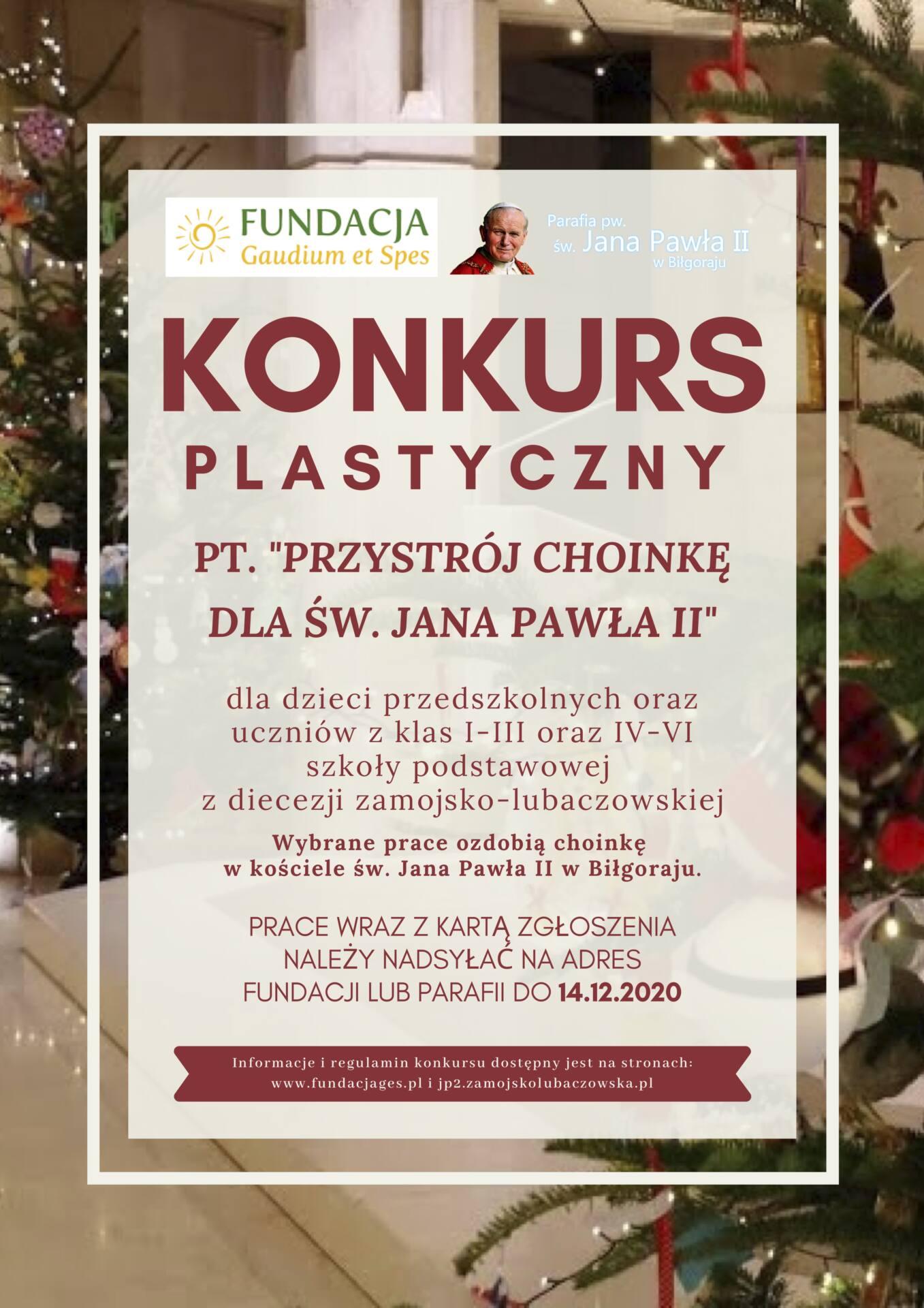 plakat przystroj choinke dla sw jana pawla ii 2020 2 Przystrój choinkę dla św. Jana Pawła II