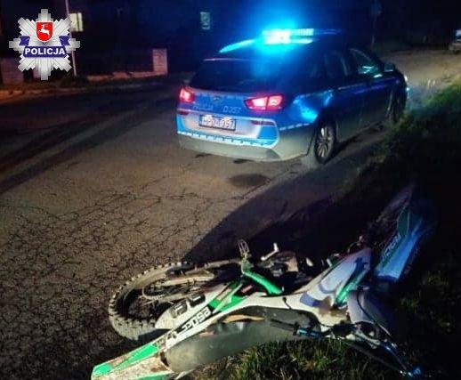 policja Pijany motocyklista uciekał przed policją